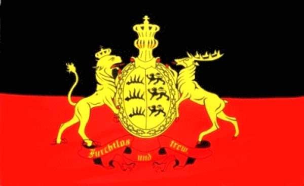 Königreich Württemberg - Furchtlos & Treu Flagge 90x150 cm