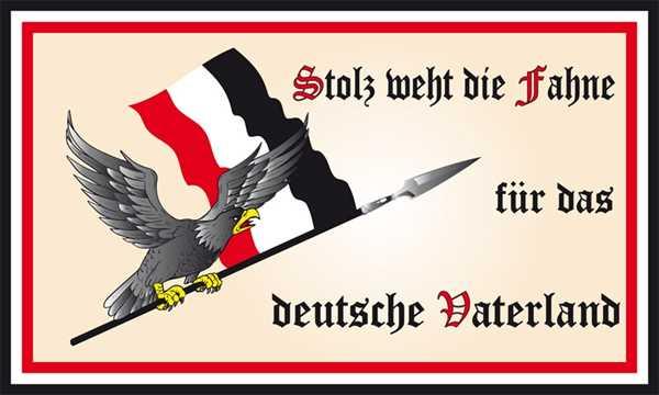 DR-Stolz weht die Fahne für das deutsche Vaterland 90x150 cm