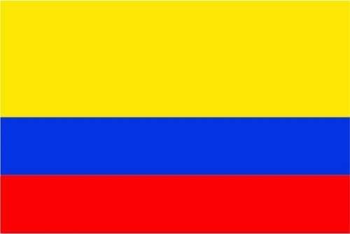 Kolumbien Bootsflagge 30x45 cm