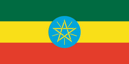 Äthiopien mit Stern Flagge 90x150 cm