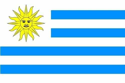 Uruguay Bootsflagge 30x45 cm
