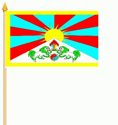 Tibet Stockflagge 30x45 cm,160 Dernier (G)Abverkauf