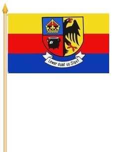 Nordfriesland Stockflagge 30x45 cm,160 Dernier (G)