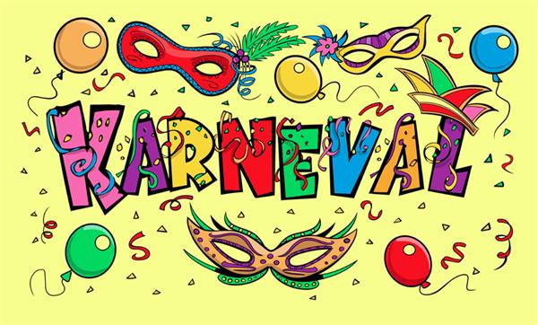 Karneval Flagge 90x150 cm
