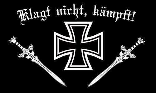 DR- Klagt nicht kämpft Flagge 60x90 cm