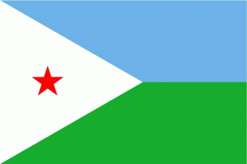 Dschibuti Flagge 90x150 cm