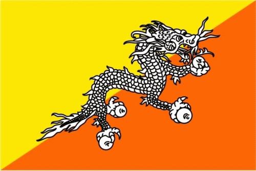 Bhutan Flagge 90x150 cm