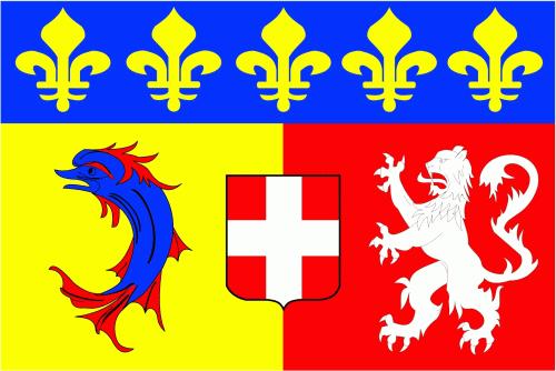 Rhone-Alpes Region Flagge 90x150 cm