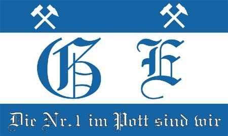 Gelsenkirchen Nr. 1 im Pott sind wir Flagge 90x150 cm