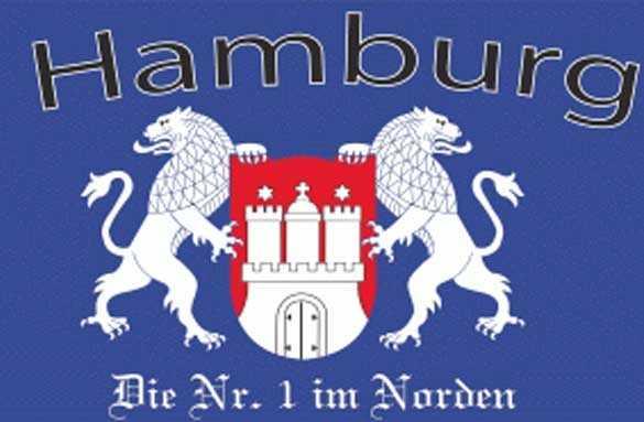 Hamburg die Nr. 1 im Norden Flagge 90x150 cm