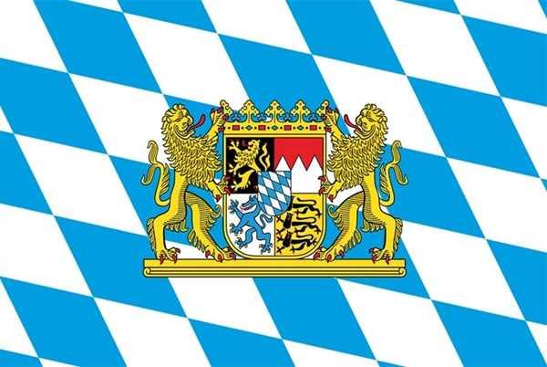 Bayern mit Löwen und Staatswappen Flagge 90x150 cm Sonderangebot 68d