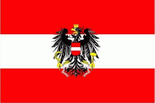 Österreich mit Wappen Flagge 90x150 cm Sonderangebot 75d