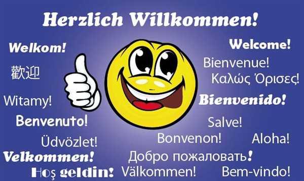 Willkommen - Herzlich Willkommen Smiley Flagge 90x150 cm