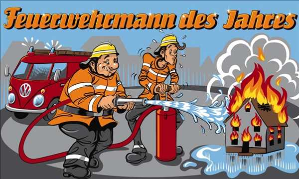 Feuerwehrmann des Jahres Flagge 90x150 cm