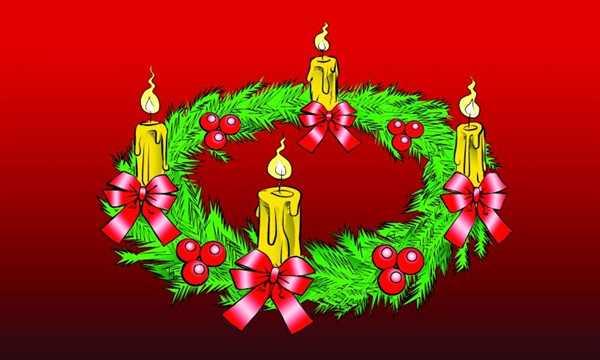 Weihnachten-Adventskranz Flagge 90x150 cm