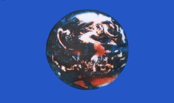 Erde Flagge 90x150 cm