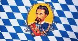 Bayern König Ludwig II 1845-1886 Flagge 90x150 cm