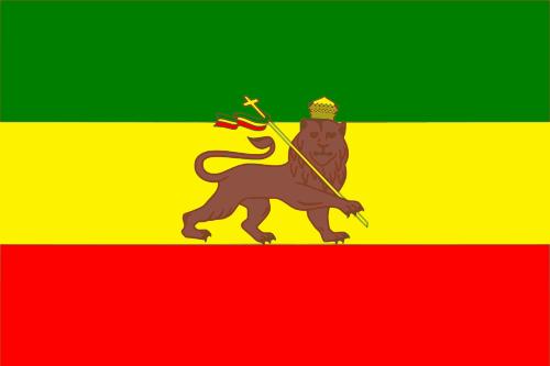 Äthiopien mit Löwe (1941-1974) Flagge 90x150 cm
