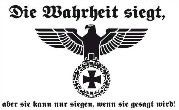 DR- Die Wahrheit siegt Flagge 90x150 cm