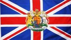 Großbritannien mit Wappen Flagge 90x150 cm