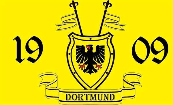 Dortmund 1909 Wappenschild 90x150 cm