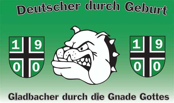 Mönchengladbach Gladbacher durch die Gnade Gottes Flagge 90x150 cm
