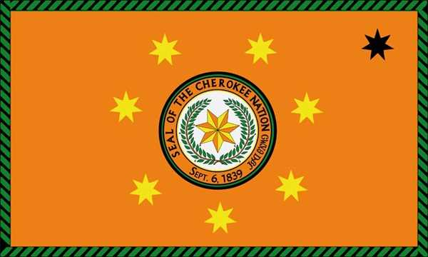 Cherokee Nation (Indianer) Flagge 90x150 cm