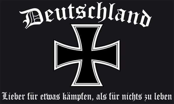 DR- Deutschland Lieber für etwas kämpfen, als für nichts leben Flagge 90x150 cm