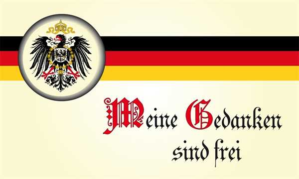 DR- Meine Gedanken sind frei Flagge 90x150 cm