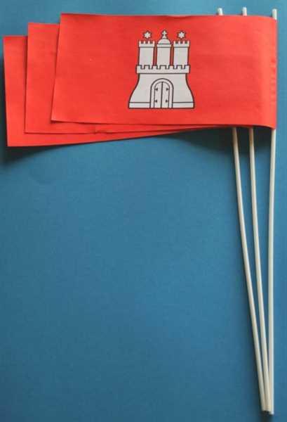Hamburg Papierflagge VPE 50 Stück