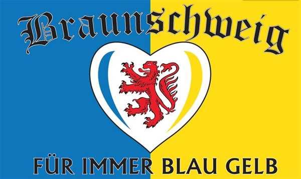 Braunschweig für immer blau gelb 90x150 cm