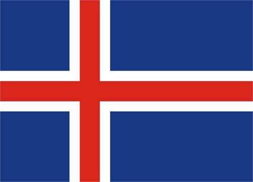 Island Flagge 90x150 cm