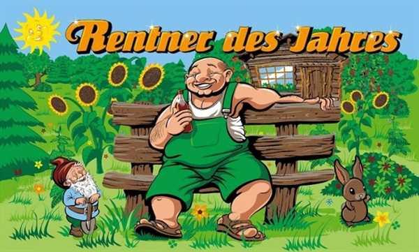 Ruhestand-Rentner des Jahres Flagge 90x150 cm