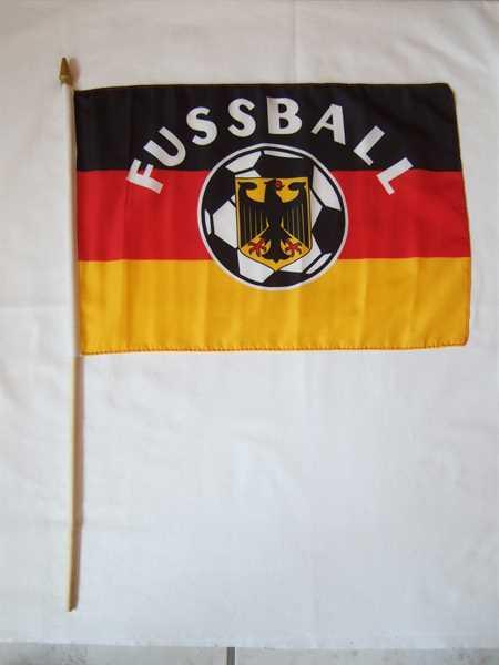 Deutschland mit Fußball Stockflagge 30x45 cm,160 Dernier Abverkauf
