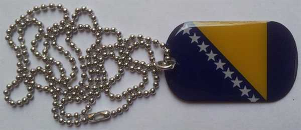 Bosnien-Herzegowina Dog Tag 30x50 mm (Erkennungsmarke)