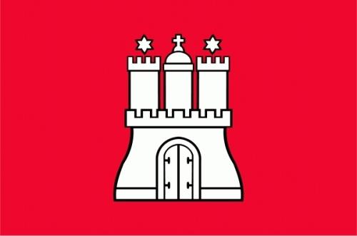Hamburg Freie und Hansestadt Flagge 90x150 cm,160 Dernier (G)