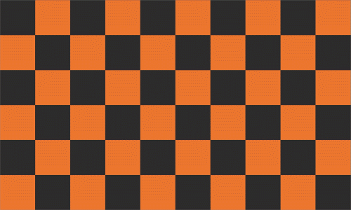 Karo schwarz - orange Flagge 90x150 cm