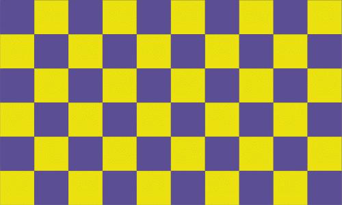 Karo lila - gelb Flagge 90x150 cm