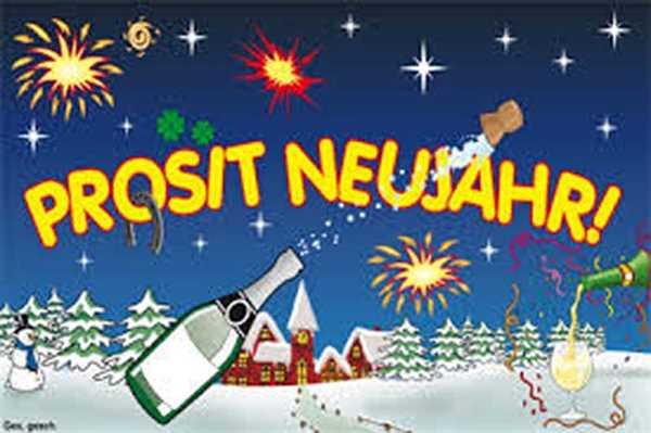 Neujahr, Prosit Neujahr Flagge 90x150 cm,160 Dernier (G)