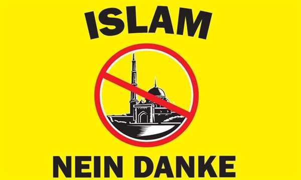 Islam Nein Danke Flagge 90x150 cm