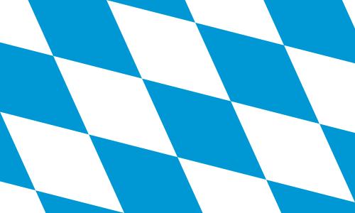 Bayern großen Rauten Flagge 90x150 cm