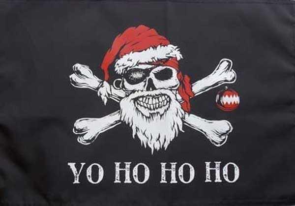 Pirat YOHOHOHO Weihnachten Flagge 90x150 cm