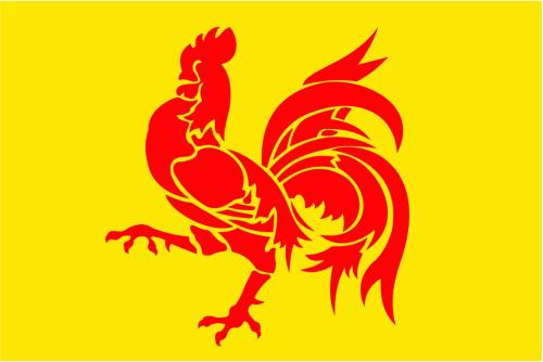 Wallonien Hahn Belgien (Region) Flagge 90x150 cm