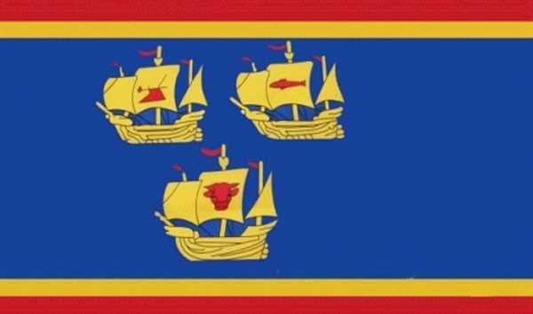 Nordfriesland - Eiderstedt - 3 Koggen Flagge 90x150 cm