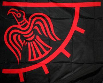 Raven Wikinger Odinic Flagge 60x90 cm