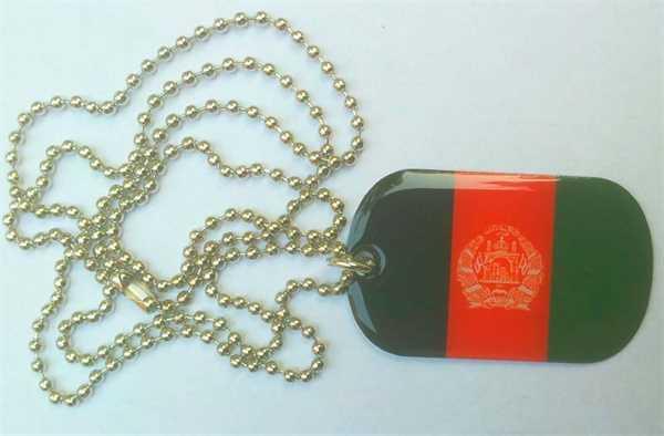 Afghanistan Dog Tag 30x50 mm (Erkennungsmarke)