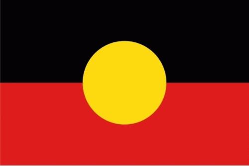 Aborigines Flagge 90x150 cm
