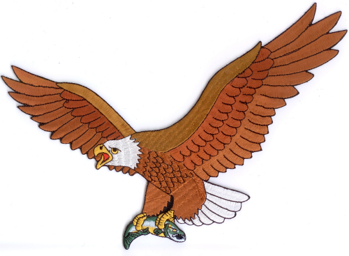 Adler 2 Aufnäher / Patch (19 x 27 cm)