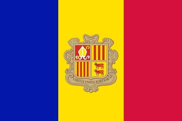 Andorra Flagge 90x150 cm