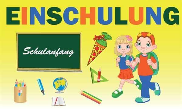 Schule-Einschulung Kinder Flagge 90x150 cm